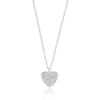 Pave Heart Pendant-Necklaces-Here Comes The Bling