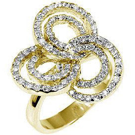Pave Swirls Fashion Ring-Rings-Here Comes The Bling™
