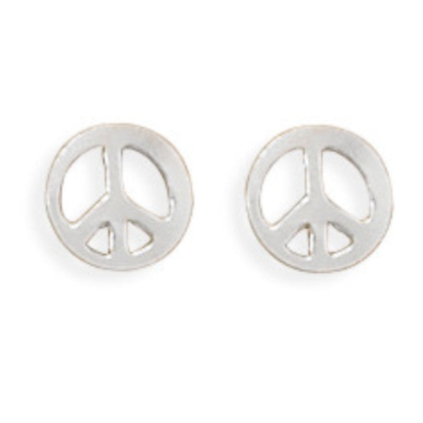 Peace Sign Earrings-Girls-Jewelry-Here Comes The Bling™