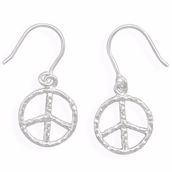 Peace Sign French Wire Earrings-Girls-Jewelry-Here Comes The Bling™