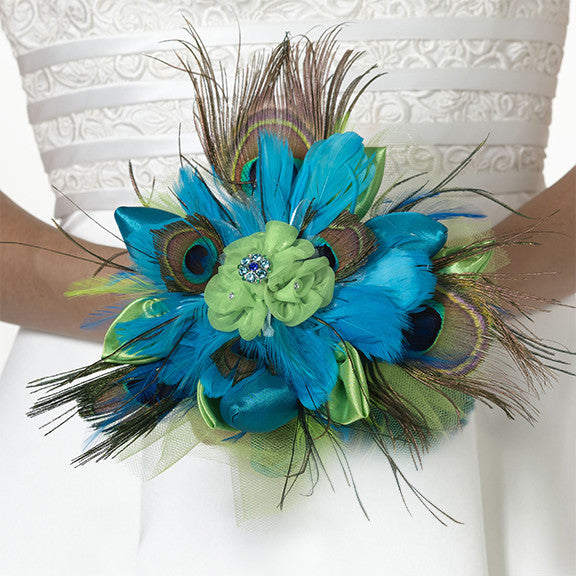 Peacock Bouquet-Wedding Bouquet-Here Comes The Bling™