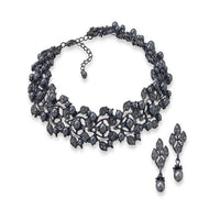 Peacock Imitation Pearl Fashion Choker and Earring Set-Sets-Here Comes The Bling™