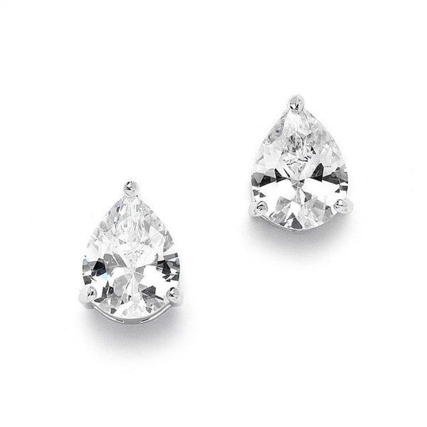 Pear Shape Stud Earrings-Earrings-Here Comes The Bling™