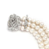 Pearl Bracelet with Vintage CZ Clasp-Bracelets-Here Comes The Bling™