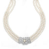 Pearl & Cubic Zirconia Vintage Necklace-Necklaces-Here Comes The Bling™