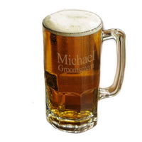 Personalized 1 Liter Monster Glass Mug-Beer Mugs-Here Comes The Bling™