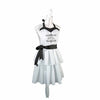 Personalized Black and White Ruffled Apron-Apron-Here Comes The Bling™