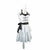 Personalized Black and White Ruffled Apron