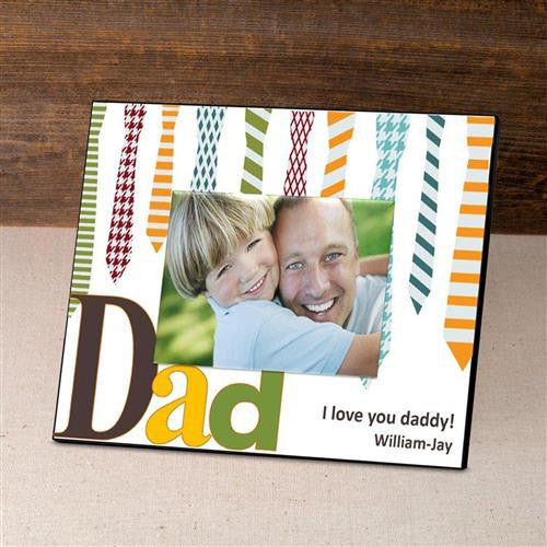 Personalized Father's Day Frame - Ties-Frames-Here Comes The Bling™