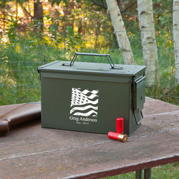 Personalized Genuine Metal Ammo Box-Mens-Cases-Here Comes The Bling™