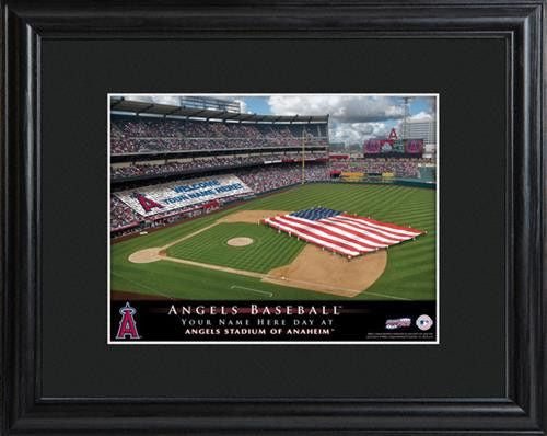 Personalized MLB Stadium Print - ANGELS-Art-Here Comes The Bling™