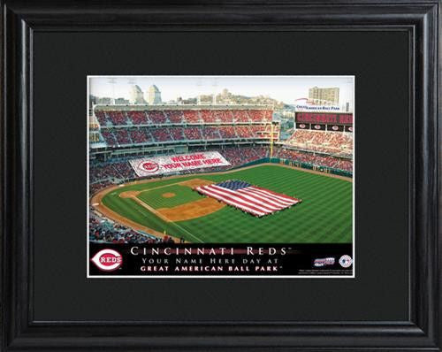 Personalized MLB Stadium Print - REDS-Art-Here Comes The Bling™