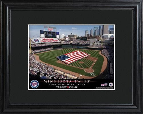 Personalized MLB Stadium Print - TWINS-Art-Here Comes The Bling™
