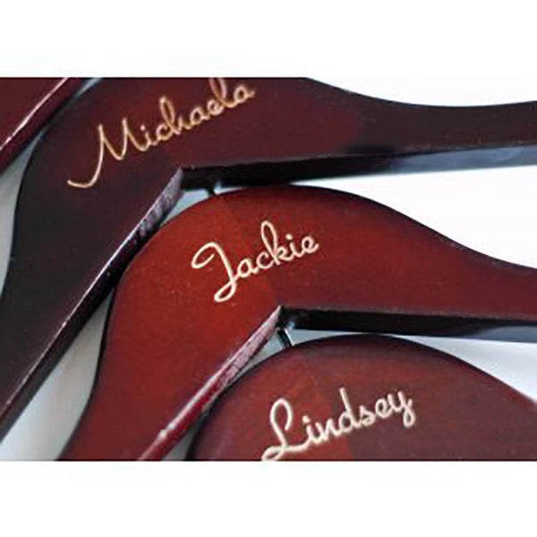 Personalized Natural Wooden Hangers (Available in 4 Colors)-Hangers-Here Comes The Bling™