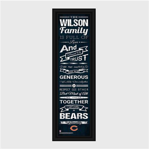 Personalized NFL Family Cheer Print & Frame - Bears-Art-Here Comes The Bling™