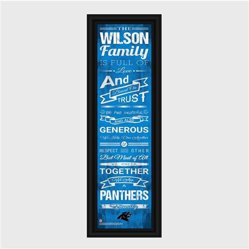 Personalized NFL Family Cheer Print & Frame - Panthers-Art-Here Comes The Bling™