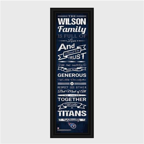 Personalized NFL Family Cheer Print & Frame - Titans-Art-Here Comes The Bling™