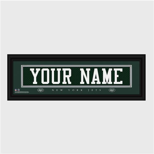 Personalized NFL Stitched Letter Art Print & Frame - Jets-Art-Here Comes The Bling™