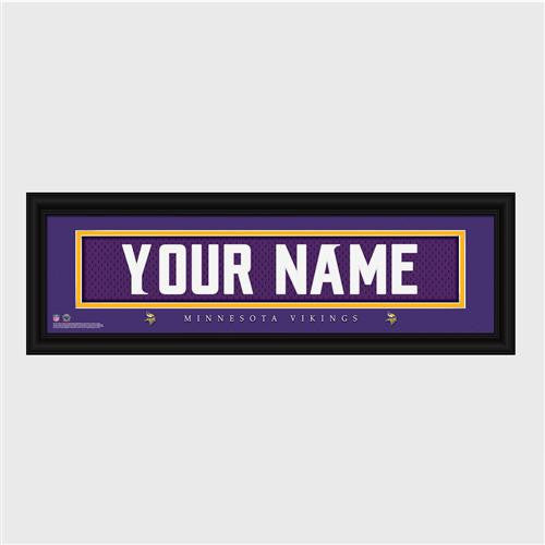 Personalized NFL Stitched Letter Art Print & Frame - Vikings-Art-Here Comes The Bling™