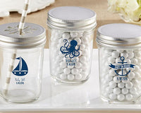 Personalized Printed Mason Jar - these Nautical Baby Shower Collection (Set of 12)-Favors-Jar-Here Comes The Bling™
