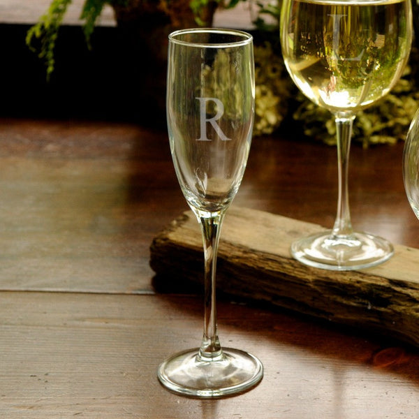 Personalized Toasting Glass-Toasting Flutes-Here Comes The Bling™