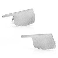 Pewter Oklahoma Cufflinks-Cufflinks-Here Comes The Bling™