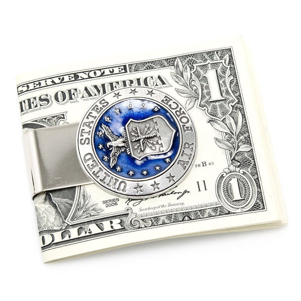 Pewter U.S. Air Force Money Clip-Money Clip-Here Comes The Bling䋢