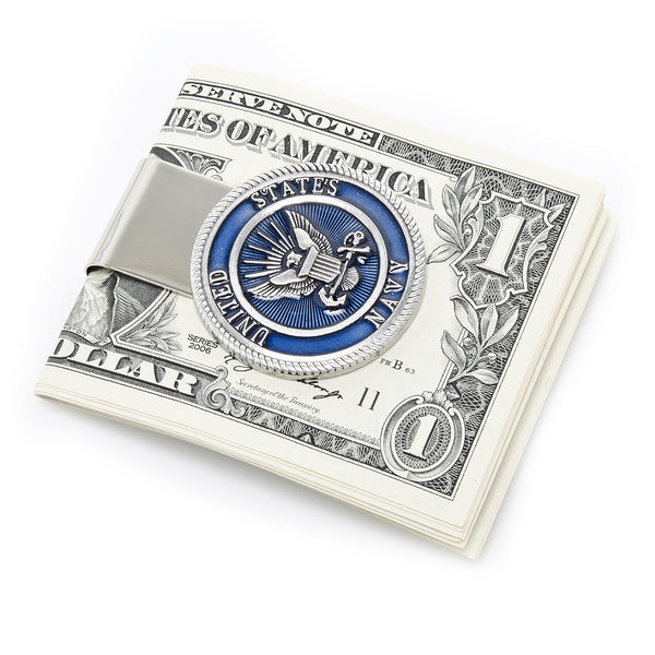 Pewter U.S. Navy Money Clip-Money Clip-Here Comes The Bling䋢