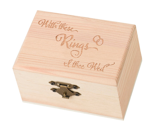 Pine Ring Bearer Box-With This Ring-Ring Pillow-Here Comes The Bling™
