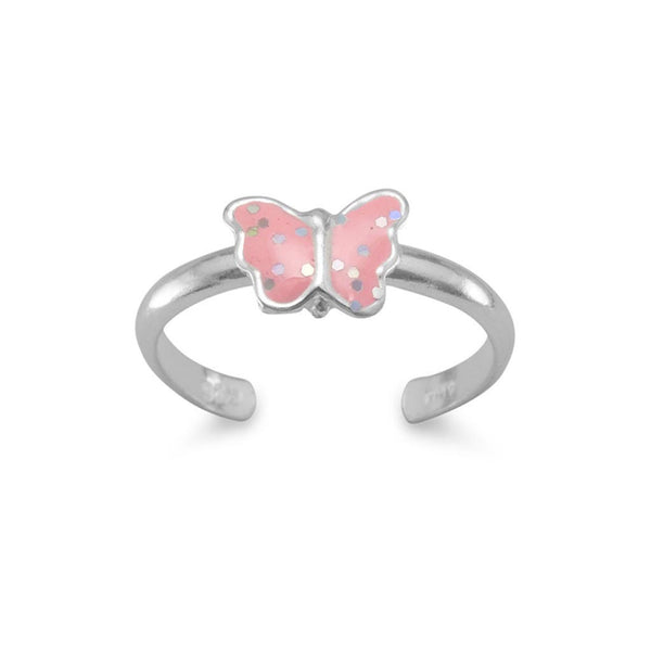 Pink Butterfly Toe Ring-Toe Ring-Here Comes The Bling™