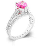 Pink Heart Cubic Zirconia Ring Set-Rings-Here Comes The Bling™