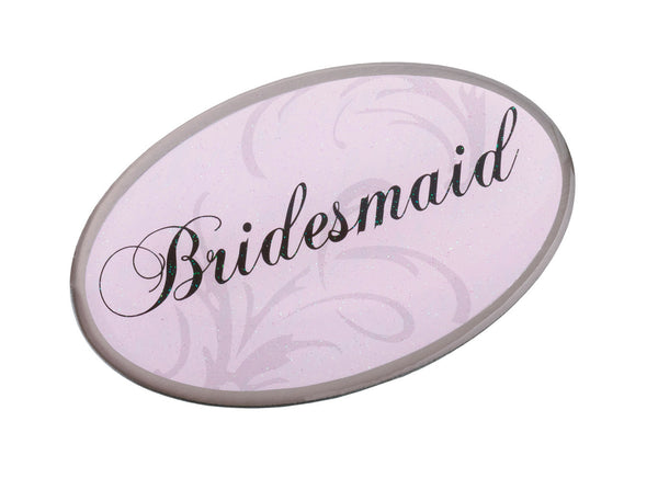 Pink Oval Bridesmaid Pin-Pin-Here Comes The Bling™