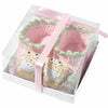 Pink Owl Booties 0-6 Months-Infants-Here Comes The Bling™