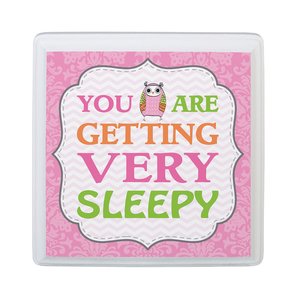 Pink Owl Sleep Sign-Sign-Here Comes The Bling™