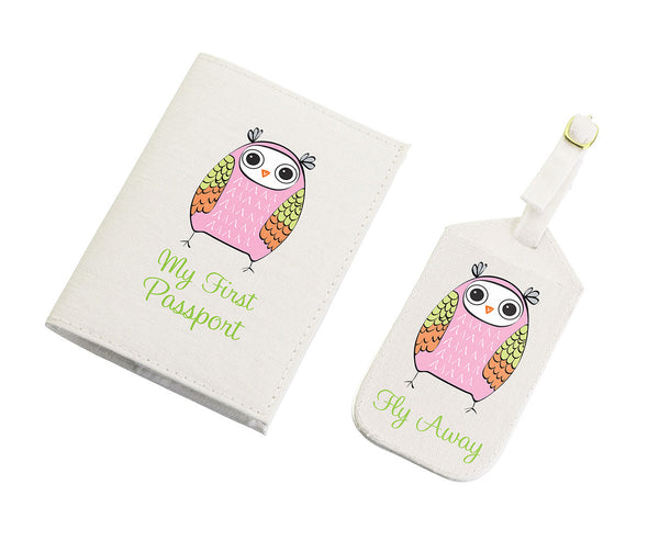 Pink Owl Tag & Passport-Passport Covers-Here Comes The Bling™