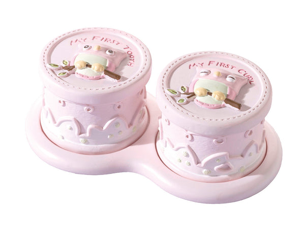 Pink Owl Tooth & Curl Box-Baby Gifts-Here Comes The Bling™