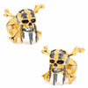 Pirates of the Caribbean 3D Black and Gold Skull and Crossbones Cufflinks-Cufflinks-Here Comes The Bling™
