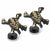 Pirates of the Caribbean Black and Gold Skull and Crossbones Cufflinks