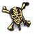 Pirates of the Caribbean Black and Gold Skull and Crossbones Lapel Pin