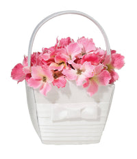 Pleated Silk Basket-Flower Basket-Here Comes The Bling™
