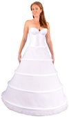 "Plus Size - 4 Ring 124"" Hoop Skirt Petticoat-Hoop Skirt-Here Comes The Bling™"