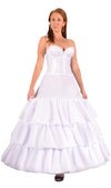 "Plus Size - 4 Ring 124"" Hoop Skirt Petticoat with Ruffles-Hoop Skirt-Here Comes The Bling™"