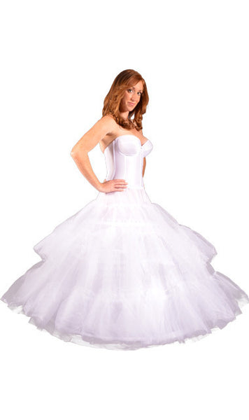 Plus Size - Ultra Full Hoop Skirt Quinceanera, Petticoat (Drawstring Closure Only)-Petticoat-Here Comes The Bling™
