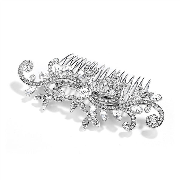 Popular Wedding or Prom Hair Comb with Pave Crystal Vines-Combs-Here Comes The Bling™