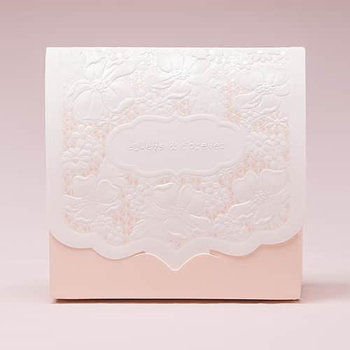Pretty Lace Blush Favor Box (Pack of 10)-Favors-Boxes-Here Comes The Bling™