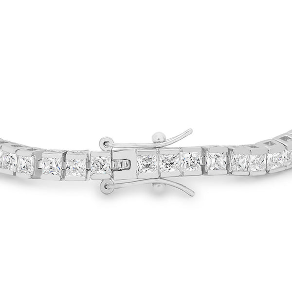 Princess Cubic Zirconia Tennis Bracelet-Bracelets-Here Comes The Bling