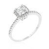 Princess Cut Halo CZ Engagement Ring-Rings-Here Comes The Bling™