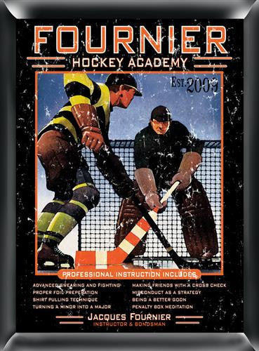 Pub Sign - Hockey Academy-Sign-Here Comes The Bling™