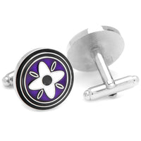 Purple and Black Twilight Star Cufflinks-Cufflinks-Here Comes The Bling™