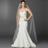 Chapel or Floor Length One Layer Cut Edge Bridal Veil